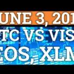 BITCOIN BTC VS VISA! EOS HACK! STELLAR LUMENS XLM NEWS! PRICE PREDICTION + CRYPTOCURRENCY NEWS 2018!