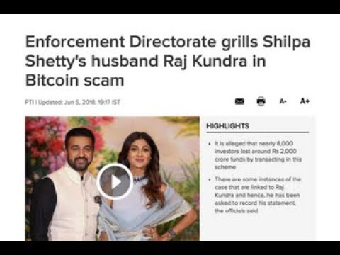 Cryptocurrency news: Shilpa Shetty's husband questioned regarding a Bitcoin scam, and more (Hindi)