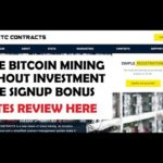 NEW BITCOIN CLOUD MINING – FREE 50GHS – EARN ONLINE WITHOUT INVESTMENT – BTCCONTRACT