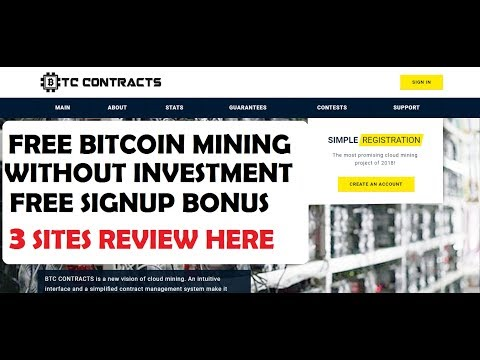 NEW BITCOIN CLOUD MINING - FREE 50GHS - EARN ONLINE WITHOUT INVESTMENT - BTCCONTRACT