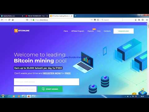 FREE UP TO 0.8 BITCOIN PER DAY MINING.BTCONLINE