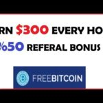 $300 Every Hour – Earn Free Bitcoin – Freebitcoin.io – Scam Legit?