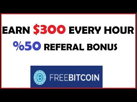 $300 Every Hour - Earn Free Bitcoin - Freebitcoin.io - Scam Legit?