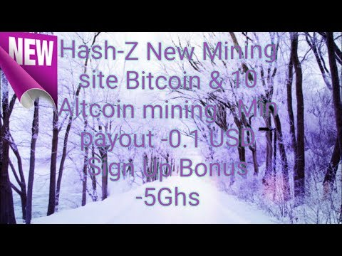 New Altcoin and Bitcoin Mining site 2018 with 5Ghs bonus on signup