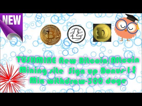 New Bitcoin mining site 2018- Tushmine with 1USD bonus on sign up //TechHuge ShowsGuru/Bitcoingainer