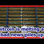 Today News – Bitcoin is melting as bad news piles up