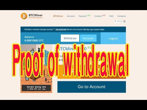 win 0 0006 Bitcoin EveryDay autobtcminer   Proof of withdrawal   No Scam