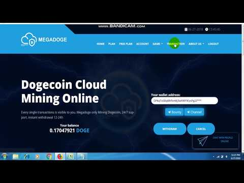 Free Bonus 1.5 DH/s + Faucet | MegaDoge Miner | Cloud Mining | Earn Free Unlimited Dogecoins