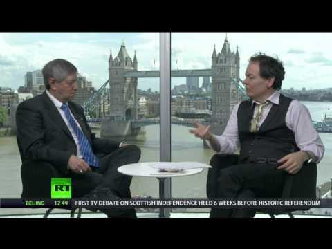Peter Greenhill talks to Max Keiser, RT News