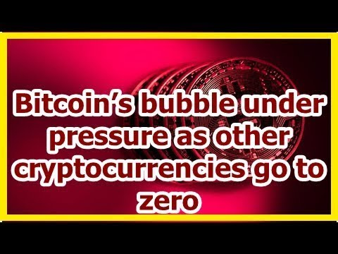 Today News - Bitcoin's bubble under pressure as other cryptocurrencies go to zero