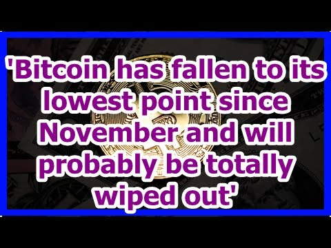 Today News - Bitcoin has fallen to its lowest point since November and will probably be totally wip