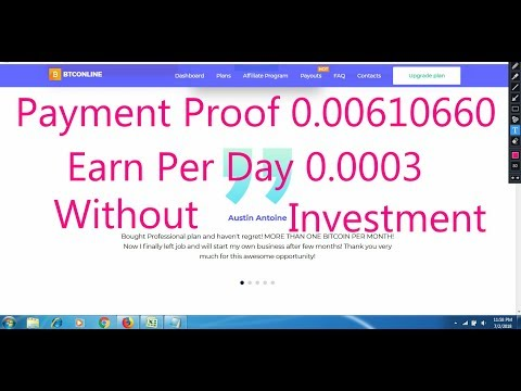 Payment Proof 0.00610660 | Btconline Pool Mining | Earn 0.0003 BTC Every Day | Without Investments
