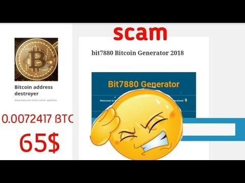 Bit7880 Bitcoin Generator 2018 ✘ SCAM
