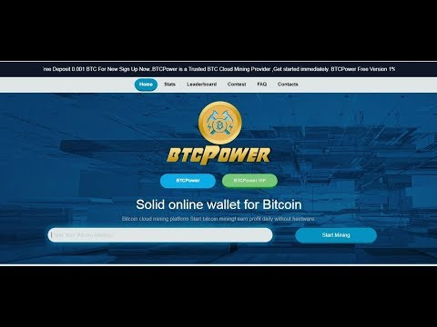 New BTCPower || Auto Bitcoin Power Mining || Free 2 GH/s for Btc Earning