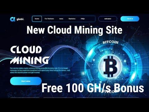 globi.biz | New Cloud Mining | Free 100 GH/s Bonus