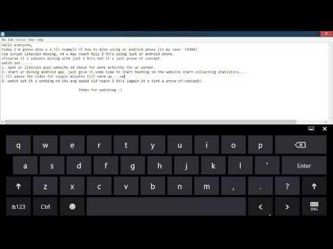 Android LiteCoin Mining