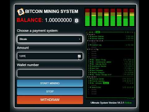 Bitcoin Mining System 2018 %100 Real Working