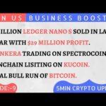 Ledger Nano S ($29M Profit) ! Bankera Price Prediction ! Vinchain Listing ! Bitcoin News