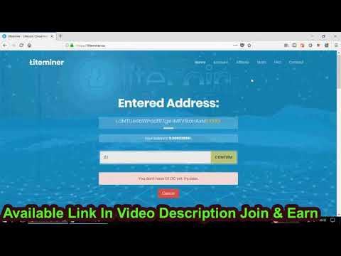 LiteMiner : New Litecoin Cloud Mining 2018 (Free 0.175 Dh/s) - free bitcoin earner