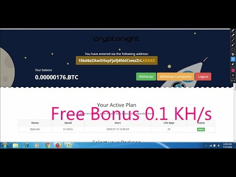 Free Bonus 0.1 KH/s | CriptoNight Mining | Cloud Mining | Earn Free Bitcoins