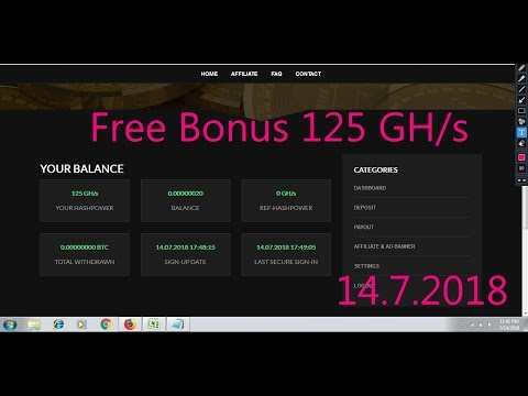 Free Bonus 125 GH/s | GRHash Mining | Cloud Mining | Earn Free Bitcoins