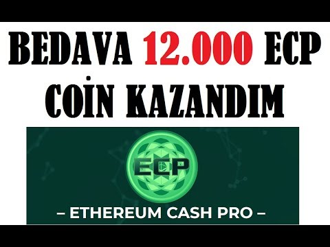 Bedava 12,000  ECP Token KAZANDIM! ethereumcashpro SCAM?