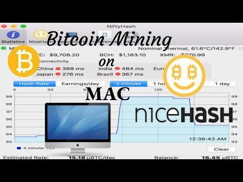 Bitcoin mining on Mac - NiftyHash nicehash mining tutorial