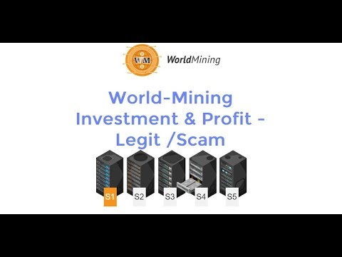 World-Mining Investment & Profit - Legit or Scam #Bitcoin #Mining #Cloud-mining Review