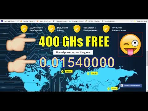 400 Ghs Free New Bitcoin Cloud mining