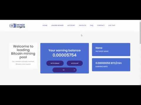Free Bitcoin website mining quikly بيتكوين مجاناااااا تعدين سريع من كريبتو ماييننج