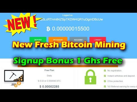New Fresh Bitcoin Cloud Mining { Free 1 GHs Bonus } Without Investment Earn Hindi / Urdu   Minefund