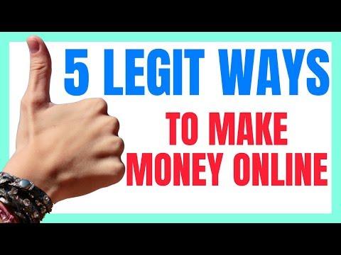 5 LEGIT WAYS TO MAKE MONEY ONLINE!