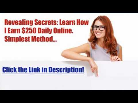 How To Earn Money Online $250 A Day do less work make more money