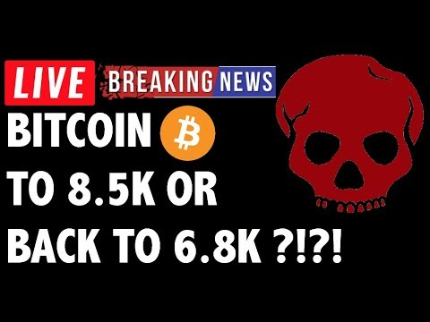 Will Bitcoin (BTC) Go To 8.5K or 6.8K?! Crypto Trading & Cryptocurrency Price News