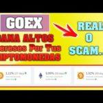 GoexPro GANA Altos INTERESES Por Tus Criptomonedas ¿REAL o SCAM?