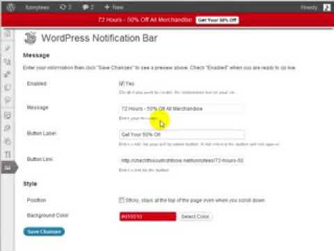 Best Business Making Money WordPress Notification Bar