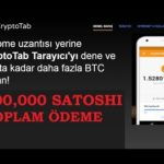 35,000 Satoshi Daha Çektim - Free Bitcoin Mining - Bedava Bitcoin Madenciliği - Cryptotab Legit