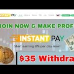 New Bitcoin Cloud Mining 2018 InstantPay.cc $35 Live Withdrawl Proof 8% PROFIT Daily High Paying