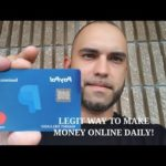 A LEGIT WAY TO MAKE MONEY ONLINE DAILY