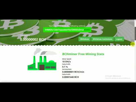 BCHminer 10 Dh/s Power - New Bitcoin Cash Mining Site - Daily Earn Free Bitcoin Cash