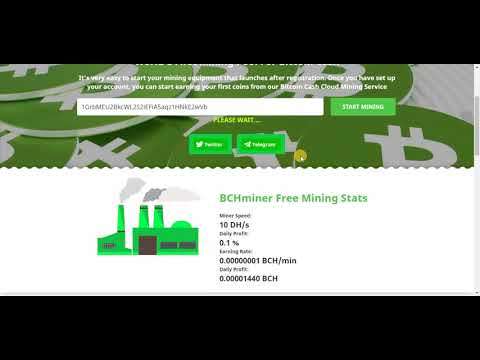 New Bitcoin Cash Mining Site | Signup bonus 10 Dh/s Power | Daily Earn Free Bitcoin Cash