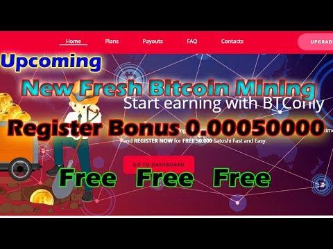 New Bitcoin Mining || Btconly || Signup Bonus 0.00050000 Free  2018