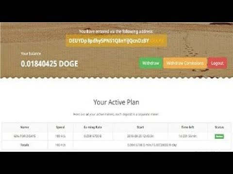 DogeDesert | Doge Mining - Free 100 H/s - 6.00000000 Đ day | No Investment