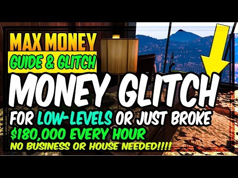 GTA 5 ONLINE 2018 | WORKING MONEY GLITCH FOR LOW LEVELS- HOW TO MAKE MONEY FAST IN GTA5 ONLINE GUIDE