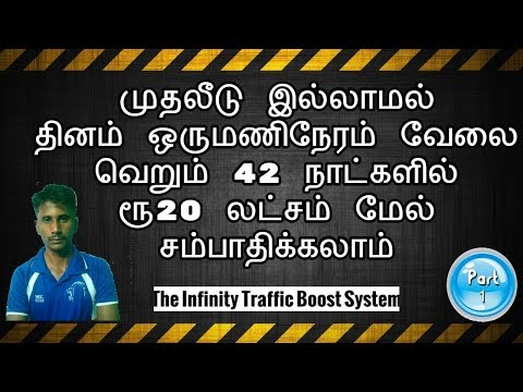 infinitytrafficboost | How To Earn Free Bitcoin | Without Investment | In Tamil | Tamil Online Jobs