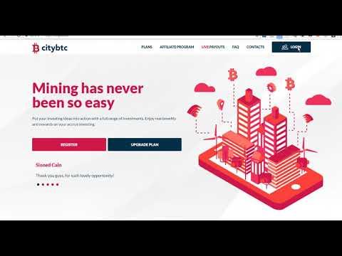 New Bitcoin Mining Earnings Website : Citybtc Crypto Mining without Work