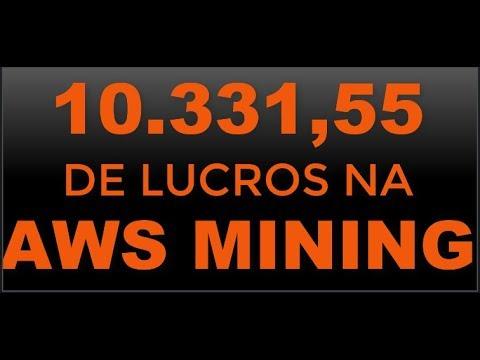 10.331,55 DE LUCROS NA AWS MINING + BITCOIN COM CARTÃO NA BTC BOLSA