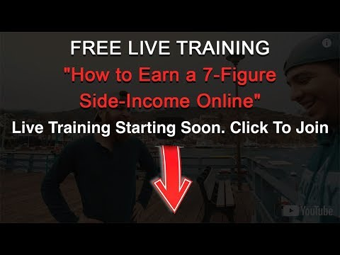 How To Make Money Online Live Training | How to Earn a 7-Figure Side-Income Online