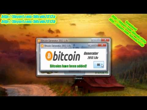 Bitcoin Generator 2013 1.0v New Recent Fast 2015