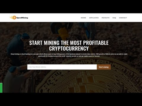 Speedmining || New Bitcoin Cloud Mining || Free Power to Mine